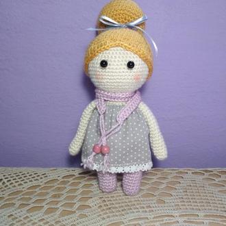 Кукла амигуруми Маленькая Леди
