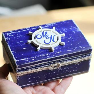 коробка для колец морская тема
