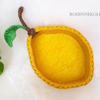 Плетеная корзина - лимон
