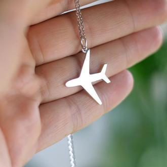 Серебряная подвеска Самолет