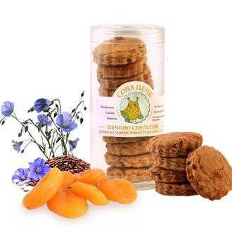 Печиво спельтове цільнозернове з курагою