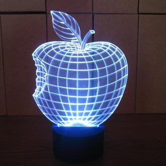 Яблоко, 3d акриловый светильник ночник детский, оригинальный подарок