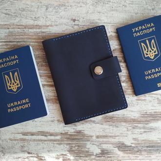 Чехол для документов обложка для паспорта и карт гаманець шкіряний  из натуральной кожи