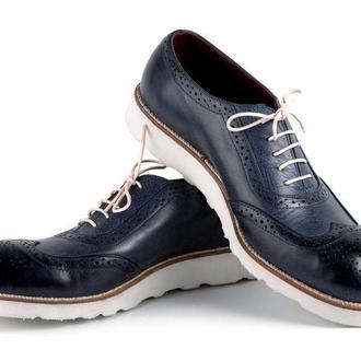 Мужские туфли NAVY BLUE BROGUES