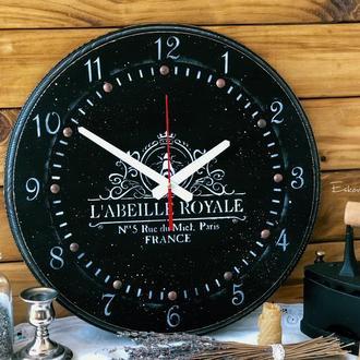 Большие чёрные настенные часы ЛОФТ