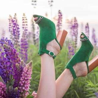 Босоножки Sparkle Green