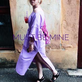 Льняное платье SWEET SUMMER  DRESS maxi LAVENDER, платье, льняное платье, летнее платье