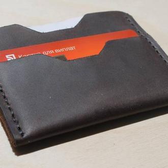 Шкіряний кардхолдер, міні-гаманець, візитниця (мини-кошелек, визитница)