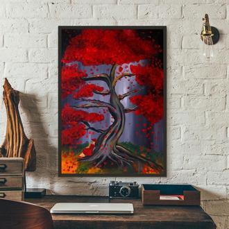 Дерево (картина масло/холст) 70х50х2 см