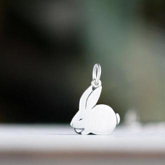 Подвеска кролик серебряный