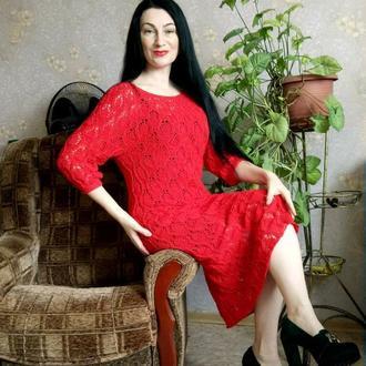 Шикарное вязаное платье.