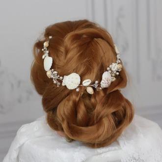 Украшение для волос на свадьбу в морском стиле