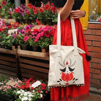 ECO-сумка натуральна на застiбцi