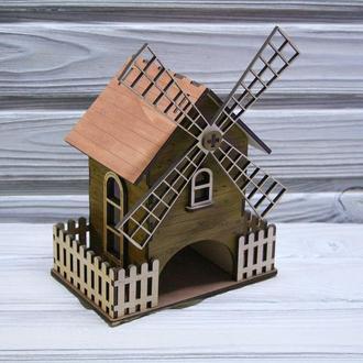 Деревянный Чайный домик Мельница