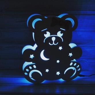 Детский деревянный ночник Мишка