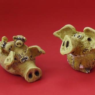 Семья Свинки Фигурки керамические