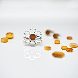 """Серебряное кольцо """"Квітка сонця"""". 18й размер"""