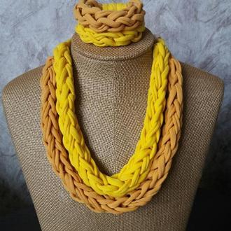 Колье з браслетом / украшение на шею подвеска чокер ожерелье цепочка бижутерия ручная работа/