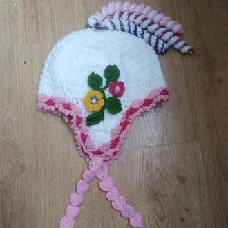Осенне- весенняя детская шапочка