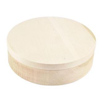 Шкатулка круглая 101, 19 см, ольха