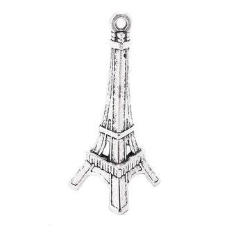 Подвеска металлическая Эйфелева башня 17х42 мм, серебро, 2 шт