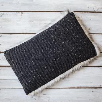 Подушка вязаная декоративная 30х50