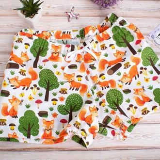 Пижамные шорты Лисички