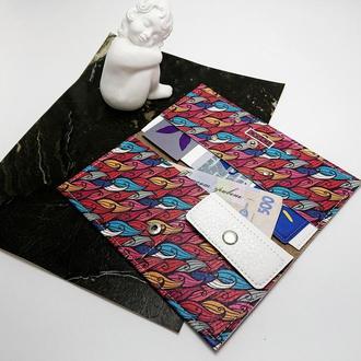Женский кошелек с принтом