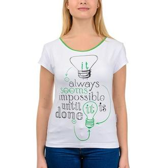 Жіноча футболка Artystuff з принтом Seems Impossible