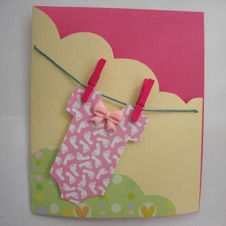 Открытка на день рождения ребенка (девочки)