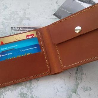 Мужской кошелек для монет и денег из натуральной кожи