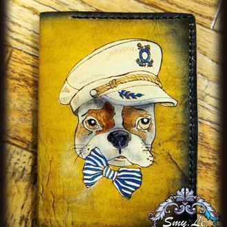 Обложка для паспорта, морская обложка, обложка для паспорта с рисунком, подарок моряку