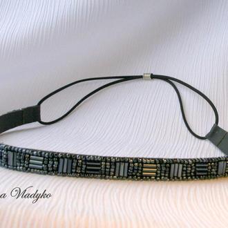 «Grey glimmer» повязка-римлянка, обруч для волос