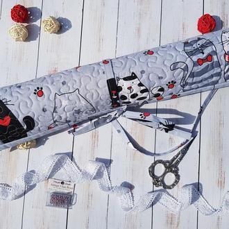 Ролл органайзер для вышивки Влюбленные коты