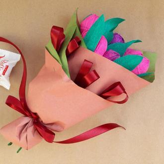Букет тюльпанов (букет из конфет)