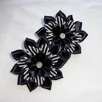 Резинка канзаши черная