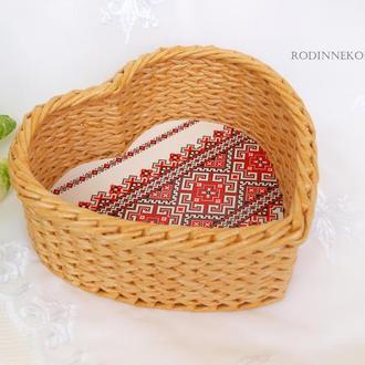 Плетеное сердце Украинский сувенир Украинский стиль