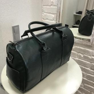 Дорожная кожаная сумка средних размеров. Шкіряна дорожня сумка. Спортивная сумка. Дорожная сумка.