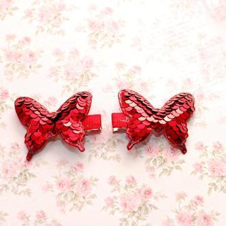 Яркие модные бабочки с пайетками