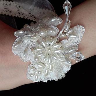 Свадебный кружевной браслет для невесты или свидетельницы.