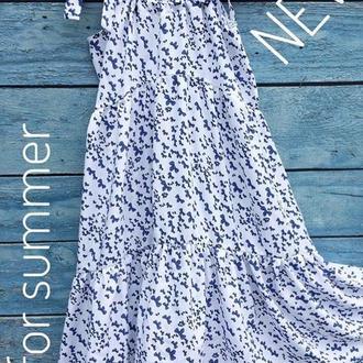 Летнее платье из нежного штапеля