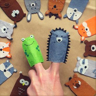 Фетровые зверюшки на пальчики