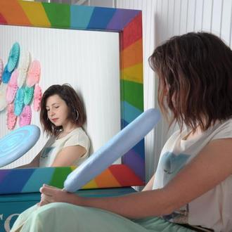 "Квадратное зеркало ""Радуга"""
