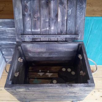 Ящик для вещей из дерева в стиле лофт