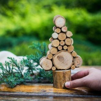 """Набор для творчества """"Рождественская елочка из деревянных спилов"""""""