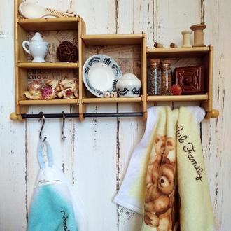 Вешалка для кухни: шадоубокс (Shadow box) в стиле рустик.