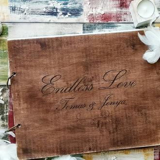 Деревянный альбом с коробкой