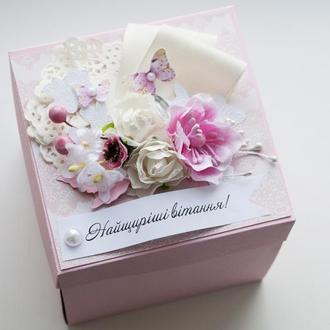 Подарункова коробочка на хрестини