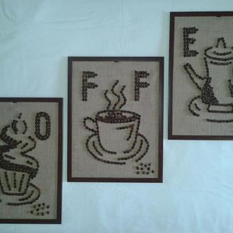 Модульная картина из кофе