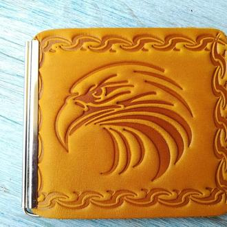 Зажим для купюр желтый орел